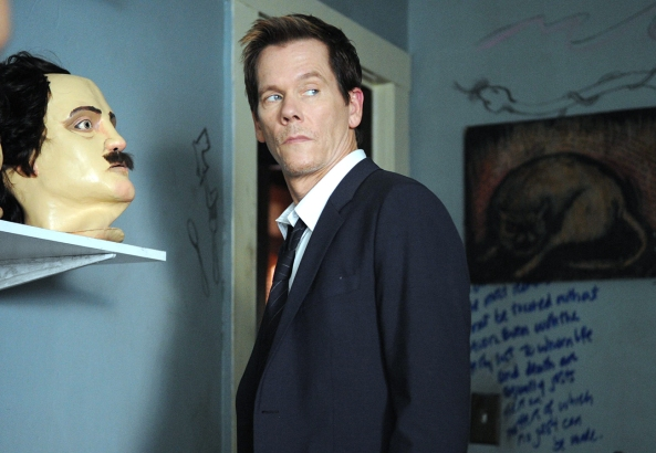 Ryan Hardy (Kevin Bacon) discovers the cult house in Episode 2 of The Following. © 2013 Fox Broadcasting Co. Credit: Sarah Shatz/FOX