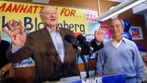 Ed Koch with current NYC Mayor Michael Bloomberg