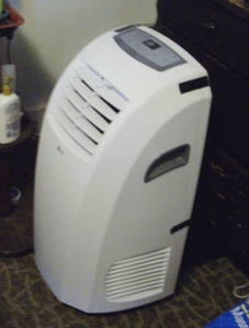 "This is the LG portable air conditioner I bought from Home Depot marked ""as is."""