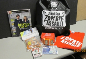 The Zombie Assault Survival Kit from Channel Guide Magazine