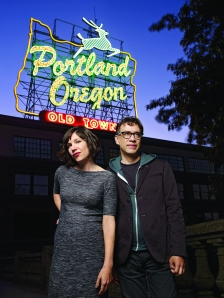 "Carrie Brownstein and Fred Armisen of IFC's ""Portlandia"". © Chris Hornbecker Photographer  Credit: IFC"
