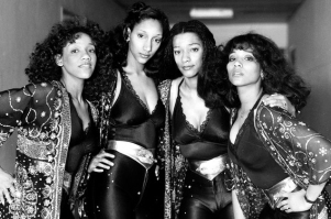 Kim, Debbie, Joni, and Kathy Sledge of Sister Sledge photographed in 1981.